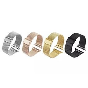 billige Mobiltelefonstilbehør-Urrem for Apple Watch Series 4/3/2/1 Apple Milanesisk rem Rustfrit stål Håndledsrem