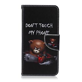 Недорогие Чехлы и кейсы для Galaxy S5 Mini-Кейс для Назначение SSamsung Galaxy S6 edge plus / S6 edge / S6 Кошелек / Бумажник для карт / со стендом Чехол Мультипликация Кожа PU