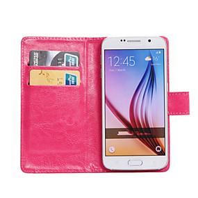 voordelige Galaxy J3 Hoesjes / covers-hoesje Voor Samsung Galaxy Z3 / Young 2 / Trend Lite 360° rotatie / Kaarthouder / met standaard Volledig hoesje Effen PU-nahka