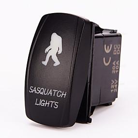 voordelige Schakelaars-iztoss 5pin laser sasquatch tuimelschakelaar aan-uit LED-licht 20a 12v blauw