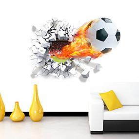 Χαμηλού Κόστους Διακοσμητικά αυτοκόλλητα-Ρομάντζο Κινούμενα σχέδια Αθλήματα 3D Αυτοκολλητα ΤΟΙΧΟΥ 3D Αυτοκόλλητα Τοίχου Διακοσμητικά αυτοκόλλητα τοίχου, Βινύλιο Αρχική Διακόσμηση