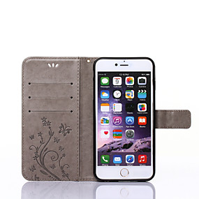 billige iPhone XS Max-Etui Til Apple iPhone X / iPhone 8 / iPhone XS Lommebok / Kortholder / med stativ Heldekkende etui Sommerfugl Hard PU Leather til iPhone XS / iPhone XR / iPhone XS Max