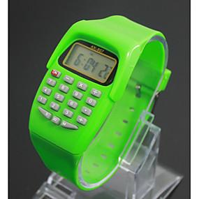 billige kvinners digitale klokker-Barne Moteklokke Digital Watch Japansk Quartz Digital Svart / Blå / Rød 30 m LCD Digital damer Sjarm - Lilla Grønn Blå Ett år Batteri Levetid