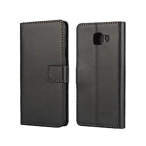 voordelige Galaxy A3(2016) Hoesjes / covers-hoesje Voor Samsung Galaxy A3(2016) Kaarthouder / met standaard / Flip Volledig hoesje Effen PU-nahka