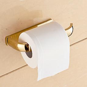 economico Accessori per il bagno-Portarotoli Moderno Ottone 1 pezzo - Bagno dell'hotel