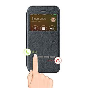 levne iPhone pouzdra-Carcasă Pro Apple iPhone X / iPhone 8 / iPhone 6 Plus se stojánkem / s okýnkem Celý kryt Jednobarevné Pevné PU kůže pro iPhone X / iPhone 8 Plus / iPhone 8