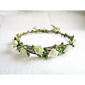 tanie Biżuteria kwiatowa-Damskie Dla dziewczynek Kwiaty Kwiat Vintage Kwiat Opaski na głowę Fascynatorzy Biżuteria na czoło-Papier