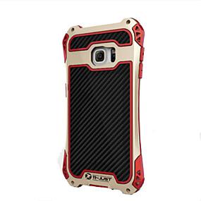 halpa Galaxy S -sarjan kotelot / kuoret-Etui Käyttötarkoitus Samsung Galaxy Samsung Galaxy S7 Edge Iskunkestävä Takakuori Panssari Aluminium varten S8 Plus / S8 / S7 edge