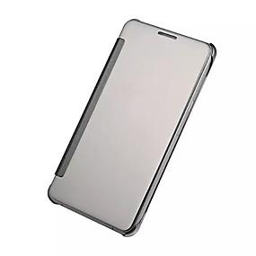 voordelige Galaxy A9(2016) Hoesjes / covers-hoesje Voor Samsung Galaxy A9(2016) / A7(2016) / A5(2016) Beplating / Spiegel / Flip Volledig hoesje Effen PC