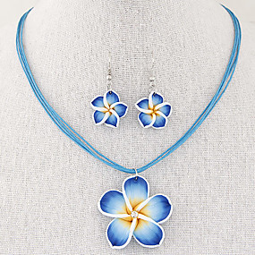 131a172df9f cheap Floral Jewelry-Women  039 s Jewelry Set Flower Ladies