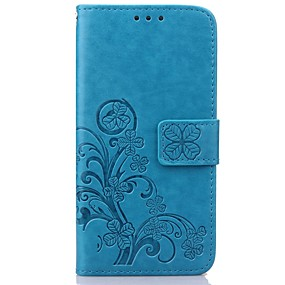 cheap Galaxy S Series Cases / Covers-Case For Samsung Galaxy Samsung Galaxy Case Wallet / Card Holder / with Stand Full Body Cases Flower PU Leather for S8 Plus / S8 / S7 edge