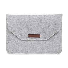 billige Mac-tilbehør-Ærmer Kuvert Etui Ensfarvet Tekstil for MacBook Pro 15-tommer / MacBook Air 13-tommer / MacBook Pro 13-tommer