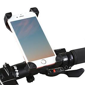 billige Sport- og udendørstilbehør-Telefonstativ til cykel Justérbar GPS Ultra Lys (UL) for Vejcykel Mountain Bike BMX PVC iPhone X iPhone XS iPhone XR Cykling Sort Sort / Rød 1 pcs