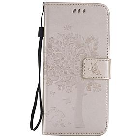Недорогие Чехлы и кейсы для Galaxy S5 Mini-Кейс для Назначение SSamsung Galaxy S7 edge / S7 / S6 edge plus Кошелек / Бумажник для карт / со стендом Чехол дерево Мягкий Кожа PU