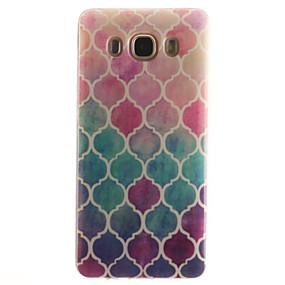 voordelige Galaxy J5 Hoesjes / covers-hoesje Voor Samsung Galaxy J7 (2016) / J5 (2016) / J5 IMD Achterkant Geometrisch patroon Zacht TPU