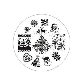 cheap Makeup & Nail Care-1pcs  Snowflake Nail Printing Plate
