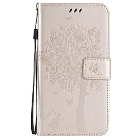 voordelige Galaxy J5 Hoesjes / covers-hoesje Voor Samsung Galaxy Xcover 3 / J7 (2016) / J7 Portemonnee / Kaarthouder / met standaard Volledig hoesje Boom Zacht PU-nahka