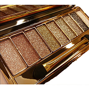 cheap Makeup & Nail Care-9 Colors Eyeshadow palette diamond bright shining colorful makeup eye shadow flash glitter makeup set