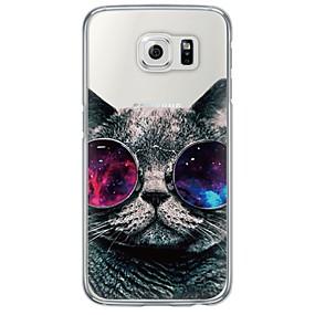 voordelige Galaxy S6 Edge Plus Hoesjes / covers-hoesje Voor Samsung Galaxy S7 edge / S7 / S6 edge plus Ultradun / Doorzichtig Achterkant Kat Zacht TPU