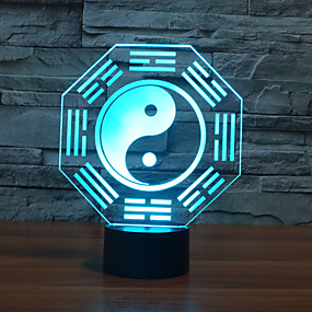 ieftine Lumini Nocturne LED-1 piesă 3D Nightlight USD Decorativ 5 V