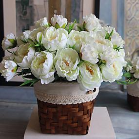 preiswerte Künstliche Blumen-Künstliche Blumen 1 Ast Moderner Stil Pfingstrosen Tisch-Blumen