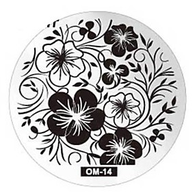 cheap Makeup & Nail Care-Nail Art Plate Stamp Stamping Set Round Stainless Steel