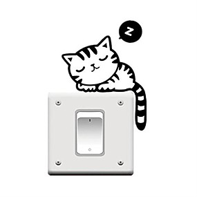 cheap Decoration Stickers-Animals Holiday Leisure Wall Stickers Plane Wall Stickers Decorative Wall Stickers Light Switch Stickers, PVC Home Decoration Wall Decal