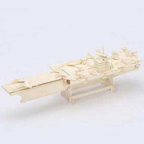 olcso Játékok & hobbi-Jigsaw Puzzle 3D építőjátékok / Fából készült építőjátékok Építőkockák DIY játékok Repülőgép hordozó Fa Arany Építő játékok