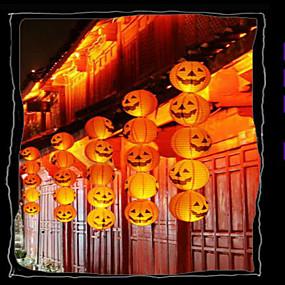 ieftine Casă & Grădină-Halloween bar de decoratiuni dovleac de hârtie lanternă este decorat portabil jack de agățat de dovleac, cu o barbă 20cm
