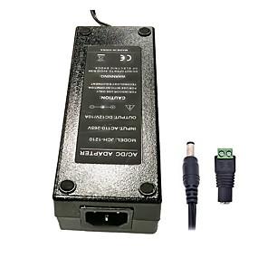 Недорогие Адаптеры-ZDM 1шт 120Вт DC12V 10A источник питания переменного тока DC5,5 х 2,1 мм Превосходное качество адаптер питания для светодиодной полосы - черный (AC100 ~ 240 В 50 Гц до 12 В постоянного тока)