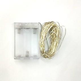 economico Casa e cucina-5m 50led 3aa alimentato a batteria decorazione impermeabile led filo di rame luci stringa per festa di natale festa di nozze