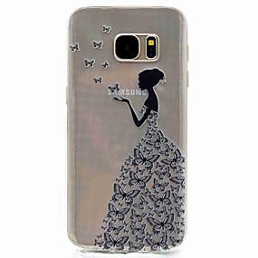 Недорогие Чехлы и кейсы для Galaxy S5 Mini-Кейс для Назначение SSamsung Galaxy S8 / S7 edge / S7 С узором Кейс на заднюю панель Соблазнительная девушка Мягкий ТПУ
