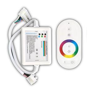 Недорогие RGB контроллеры-zdm 1pc белый пульт дистанционного управления 216w беспроводной сенсорный rbg led light bar контроллер / приемник dc12-24v