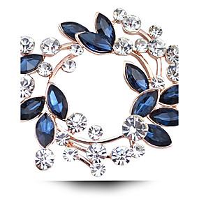 tanie Biżuteria kwiatowa-Damskie Kryształ Broszki Markiza damska Luksusowy Codzienny użytek fantazyjny Imitacja diamentu Kryształ austriacki Broszka Biżuteria Fuksja Złota Biały / Biały Na Ślub Impreza Codzienny Casual