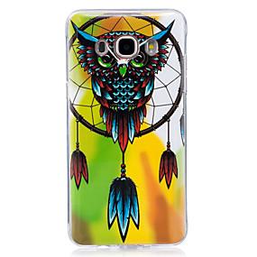 voordelige Galaxy J7 Hoesjes / covers-hoesje Voor Samsung Galaxy J7 (2016) / J7 / J5 (2016) Glow in the dark / IMD / Patroon Achterkant Uil Zacht TPU