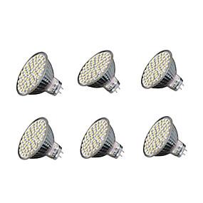 ieftine Spoturi LED-6pcs 4W 240 lm GU5.3 Spoturi LED MR16 60 led-uri SMD 3528 Alb Cald Alb Rece 3000-3200/6000-6500