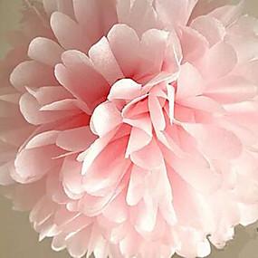baratos Casa & Cozinha-10 pcs barato bolas de flores de papel para casa festa de casamento decoração do carro artesanato