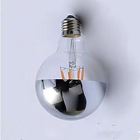 Χαμηλού Κόστους Λαμπτήρες LED με νήμα πυράκτωσης-1pc 4 W LED Λάμπες Πυράκτωσης 400 lm E26 / E27 G95 4 LED χάντρες Ενσωματωμένο LED Διακοσμητικό Θερμό Λευκό 220 V / 1 τμχ