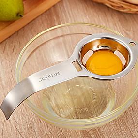 ieftine Ustensile Bucătărie & Gadget-uri-oțel inoxidabil separator ouă alb gălbenuș filtru ouă divider bucătărie unelte gadget