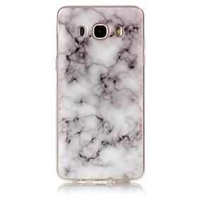 voordelige Galaxy J7 Hoesjes / covers-hoesje Voor Samsung Galaxy J7 (2016) / J7 / J5 (2016) IMD / Patroon Achterkant Marmer Zacht TPU