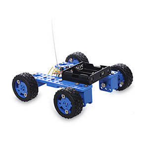 cheap Toy & Game-Crab Kingdom Remote Control RC Building Block Kit Toy Car Solar Powered Toy Race Car Car Remote Control / RC DIY Plastic Metal Boys' Toy Gift