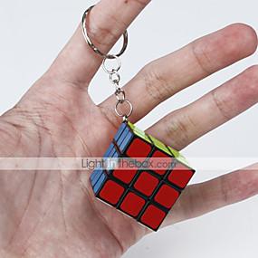 billige Pedagogiske leker-Magic Cube IQ-kube Glatt Hastighetskube Magiske kuber Nøkkelring Kubisk Puslespill Glatt klistremerke Klassisk Moro Fun & Whimsical Klassisk Barne Voksne Leketøy Unisex Gutt Jente Gave