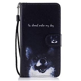 voordelige Galaxy J3(2017) Hoesjes / covers-hoesje Voor Samsung Galaxy J5 (2017) / J5 (2016) / J5 Portemonnee / Kaarthouder / met standaard Volledig hoesje Hond Hard PU-nahka
