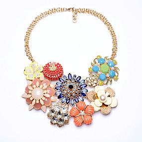 billige Strand Halskæder-Dame Strands halskæde Blomst Personaliseret Euro-Amerikansk Chrome Regnbue Halskæder Smykker Til Bryllup Tillykke