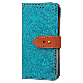 voordelige Galaxy S7 Edge Hoesjes / covers-hoesje Voor Samsung Galaxy S7 edge / S7 / S6 edge Portemonnee / Kaarthouder / met standaard Volledig hoesje Tegel Hard PU-nahka