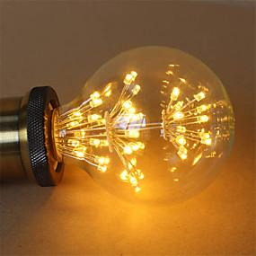 Χαμηλού Κόστους Λαμπτήρες LED με νήμα πυράκτωσης-1pc 3 W LED Λάμπες Πυράκτωσης 200 lm E26 / E27 G95 47 LED χάντρες COB Διακοσμητικό Έναστρος Θερμό Λευκό 85-265 V / RoHs