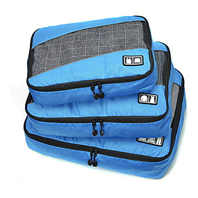 billiga Resetillbehör-3 delar Resväska / Travel Organizer / Bagageorganisatör Stor kapacitet / Bärbar / Vikbar Kläder Tyg / Polyester / Nättyg Resor