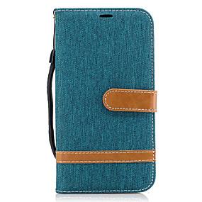 voordelige Galaxy J3 Hoesjes / covers-hoesje Voor Samsung Galaxy J5 (2016) / J3 Prime / J3 (2016) Portemonnee / Kaarthouder / met standaard Volledig hoesje Lijnen / golven Hard tekstiili