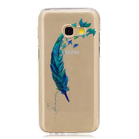 voordelige Galaxy A3(2016) Hoesjes / covers-hoesje Voor Samsung Galaxy A3 (2017) / A5 (2017) / A5(2016) Doorzichtig / Patroon Achterkant Veren Zacht TPU