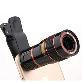 billige Smartphone-fotografering-Universal HD 8x justerbar fokus optisk teleskop mobiltelefon kamera objektiv med klip egnet til iPhone og Android-telefoner
